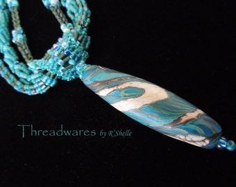 Handmade lampwork focal bead necklace