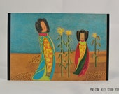 """Postcard - """"Maidens Singing to the Corn"""" - Art by Donna D'Orio"""