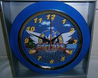 Custom-made Classic Sonic the Hedgehog videogame wall clock