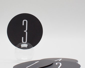 Wedding Table Numbers (15), Modern Table Numbers, Black and White Table Numbers, Wedding Paper