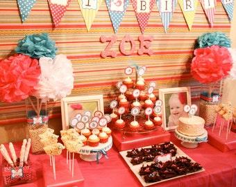 Sweet Tweet Birdie First Birthday - Pink & Blue - Printable Customized Package