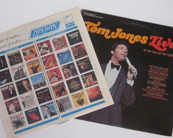 1969 Vinyl Record Album STEREO Tom Jones Live-At The Talk Of The Town-London Records LP