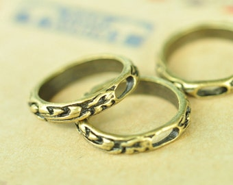 10pcs Antique Bronze Large Round Circle Ring Charms 21mm MM550