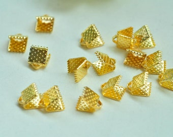 100pcs Gold Plated Fasteners Clasps 6mm XJ032
