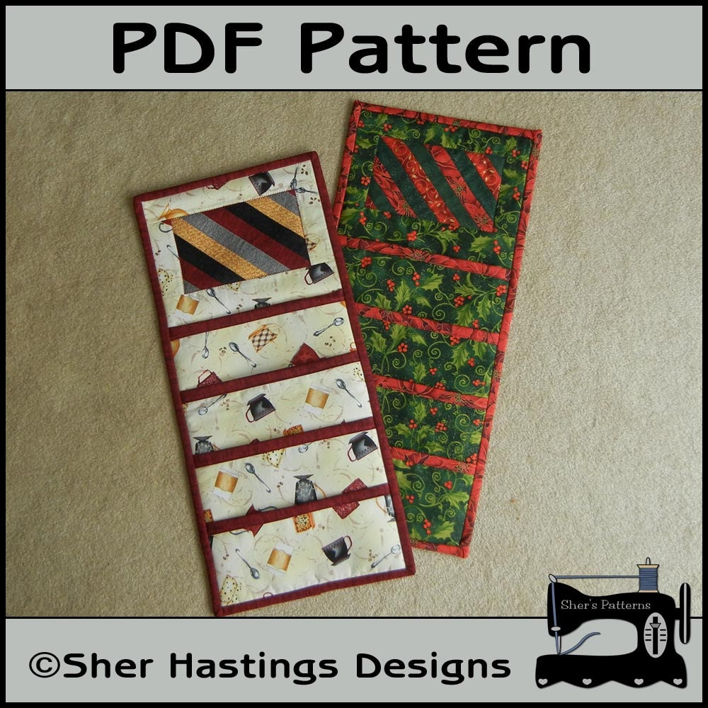 Pdf Pattern For Christmas Card Holder Pocket Wall Hanging