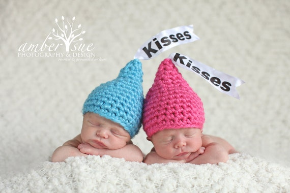 Newborn Baby Twin Kisses Hat Crochet Photo by ...