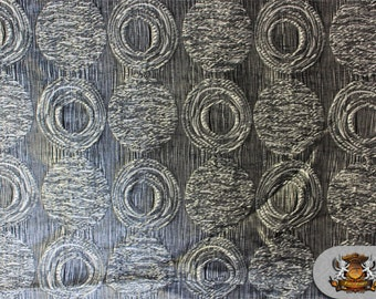 "Taffeta WEAVE MOON Beams Silver Fabric / 120"" Wide / Sold by The Yard"