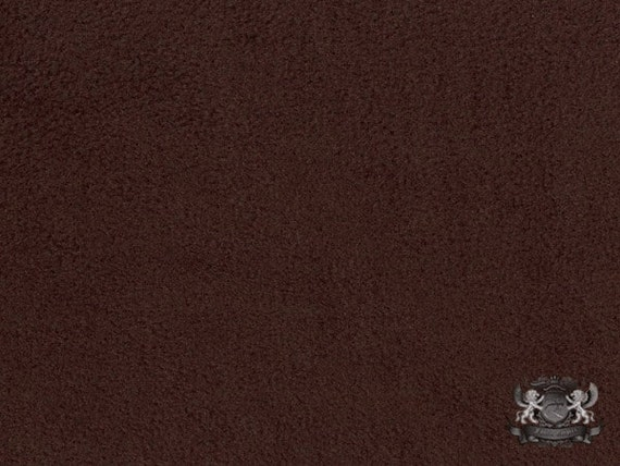 Fleece solid brown 54 fabric 58 wide sold by the for Spaceship fleece fabric