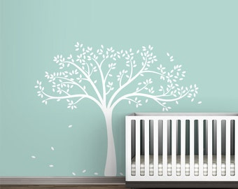 White Fall Tree Wall Decal Wall Decal by LittleLion Studio