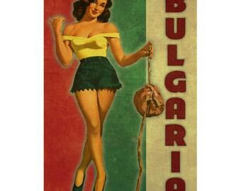 BULGARIA. 1PS- Handmade Leather Journal / Sketchbook - Travel Art