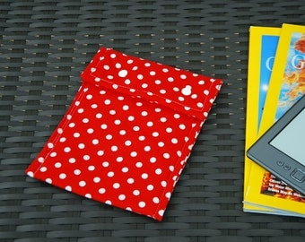 Kindle Case (Red with White Dots)