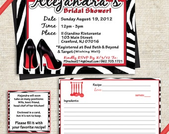 Zebra Print Bridal Shower Invitation