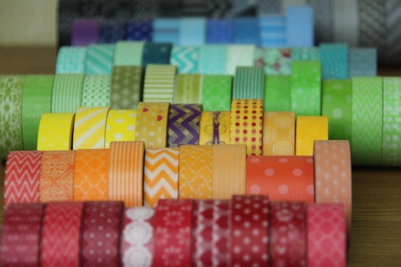 Washi Tape Set -  pick 3 rolls Washi Tape of your choice - Any 3 rolls from more than 250 choices