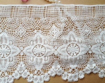 White Cotton Lace Embroidery Lace Vintage Hollow out Lace Trim DIY Handmade Accessory