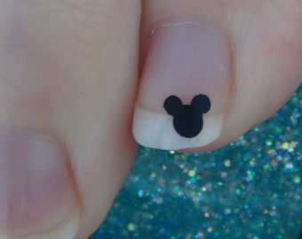 MICKEY MOUSE Nail Art Size MINI Decals Logo Set of 50 Vinyl Mice Stickers Applique Manicure Pedicure Party Gifts Stocking Stuffers