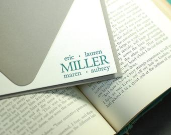 Letterpress Correspondence Card | Family Stationery | Letterpress Family Correspondence Card