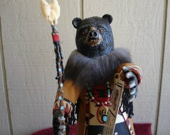 Gourd - Native American  Bear Kachina