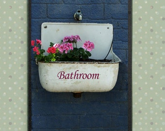 Cool bathroom door sign for completing your bathroom decor for Cool bathroom signs