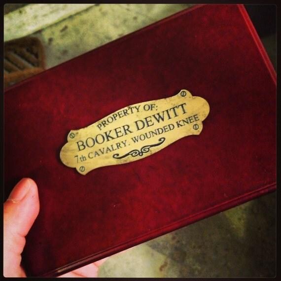 Bioshock Infinte Booker's Box Plaque/plate