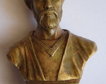 Bronze Bust Avicenna Figure Sculpture