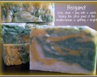 Bergamot - Rustic Suds Natural - Organic Goat Milk Triple Butter Soap Bar - 5-6oz. Each