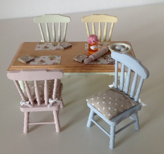 distressed kitchen table and chairs