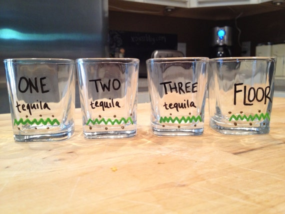 Items similar to funny shot glass set of 4 tequila for Garderoben set funny