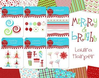 Digital Scrapbook Merry and Bright Kit