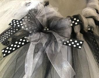 Black and white infant tutu