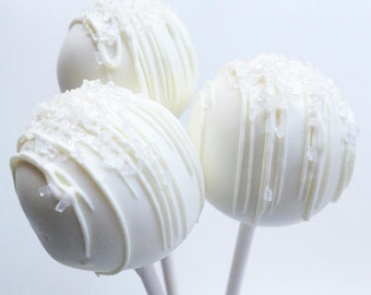Cake Pops - Wedding Day Cake Pops - Cake Pops - White Chocolate Cake Pops