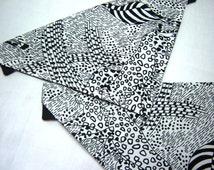 Jungle Animals Black and White Camouflage Dog Scarf Over the Collar Dog Bandana
