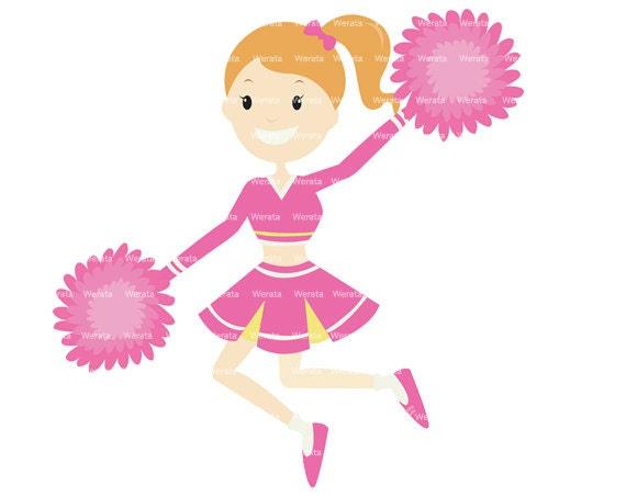 cheerleader clipart - cheerleader clip art - cute cheerleader ...