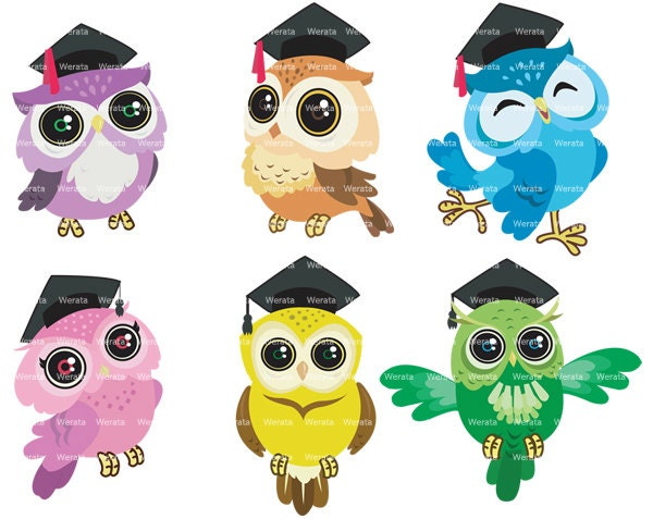 School owl clipart | Etsy