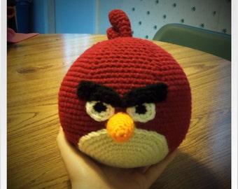 PDF Crochet Pattern - Angry Birds Big Red Bird