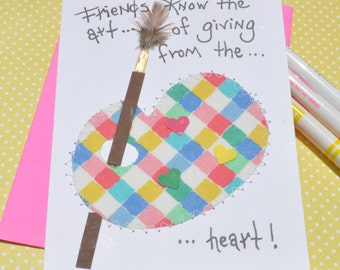 Friend Greeting Card   Friends Know The Art Of Giving From The Heart