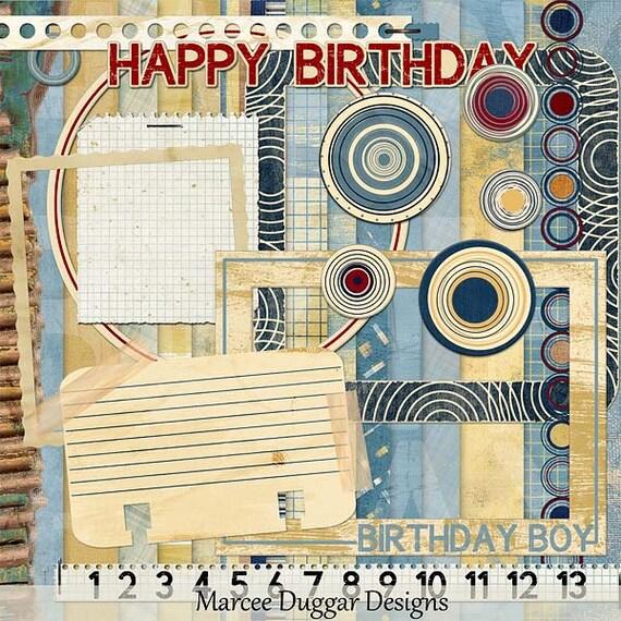 Charlee's Birthday Digital Scrapbook Kit