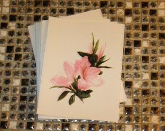 Pink Azalea blank note cards
