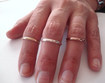 2MM. Comfort Fitt .925 Sterling Silver Band or Stackable Hand Made in U.S.