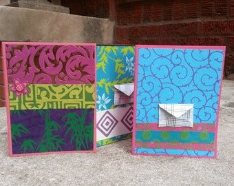 Any occasion notecards set of 5 blank cards with envelopes
