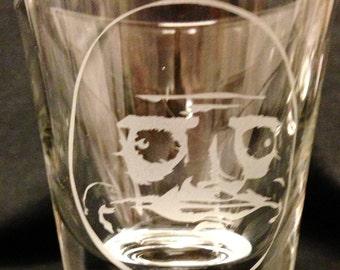 Me Gusta Rage Face Meme Custom Etched Shot Glass