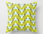 Neon Yellow  - Throw Pillow