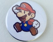 Mario 1 1/4 inch Pinback Button