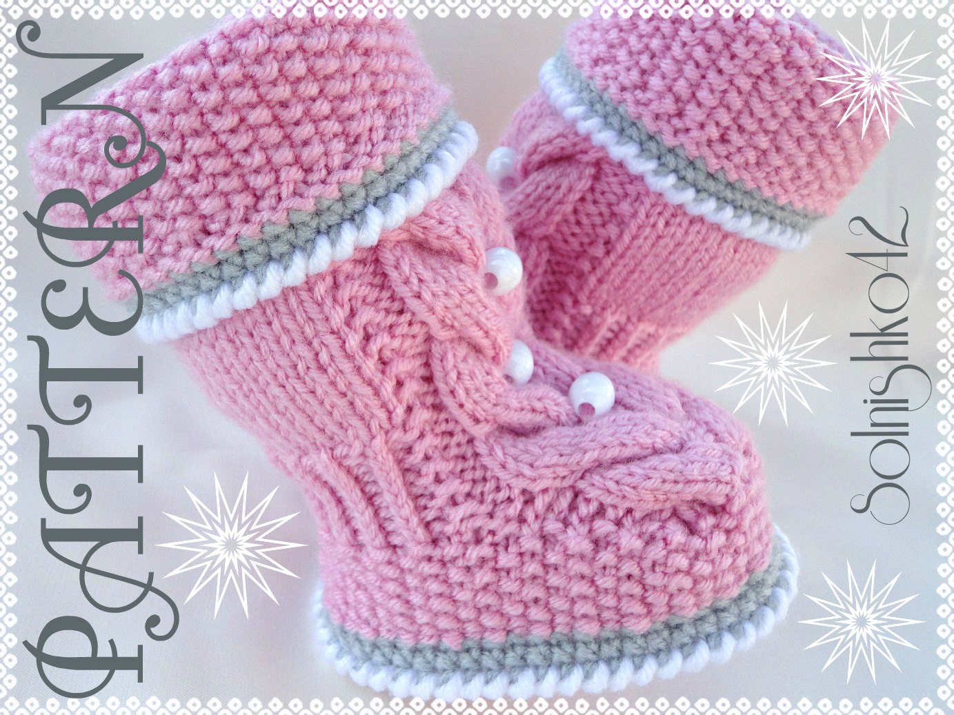 Knitted Baby Girl Shoes Pattern