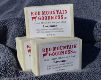 Lavender goat milk shampoo bar