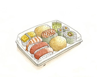 Carpark sushi, giclee print