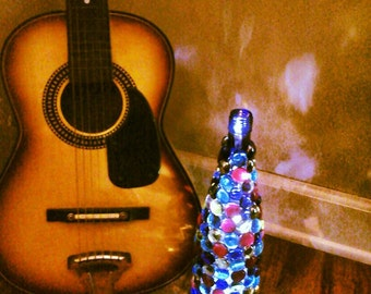 Decorative wine bottle lamp