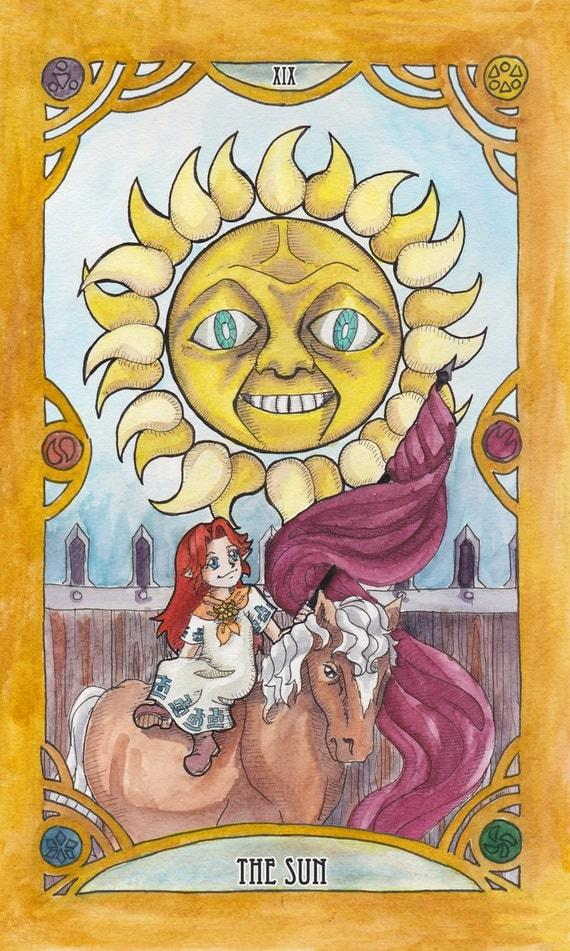 Zelda Tarot Individual Cards Watercolor Print 6.75 X