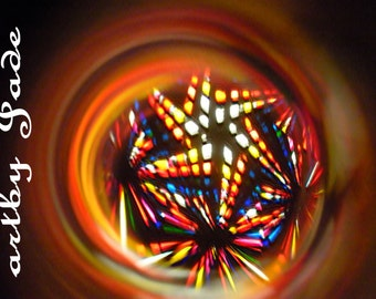 Abstract Kaliedoscope Starburst Photograph
