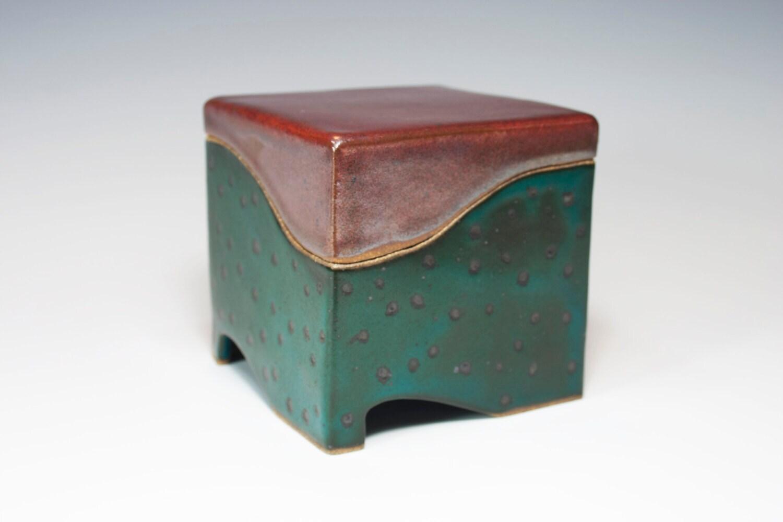 Ceramic Box Slab Built Stoneware Handmade Pottery