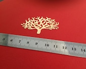 Matte Gold Plated Tree of Life Pendant, 1 Pc Exclusive at Goldie Supplies